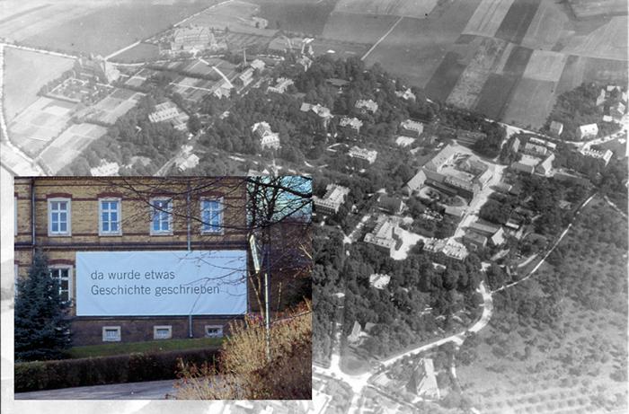 Heutiges Museum / Historische Luftaufnahme